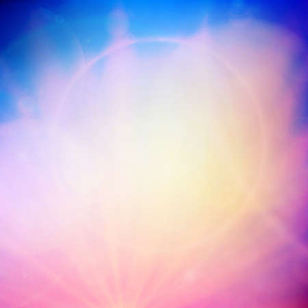 Abstract Sunset on sky with lenses flare  EPS10 Vector