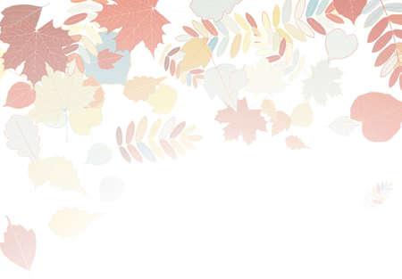 hojas de oto�o cayendo: Hojas de oto�o cayendo y girando sobre blanco Vectores