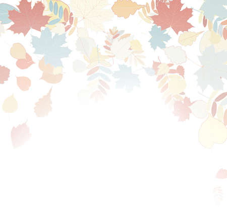 withering: Autumn leaves falling and spinning on white  EPS10 Illustration