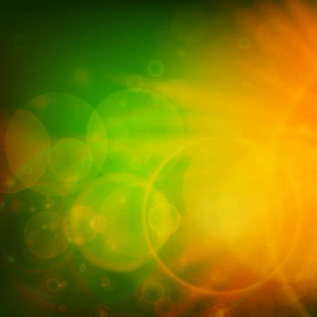 Abstract Sunset on sky with lenses flare   Vector