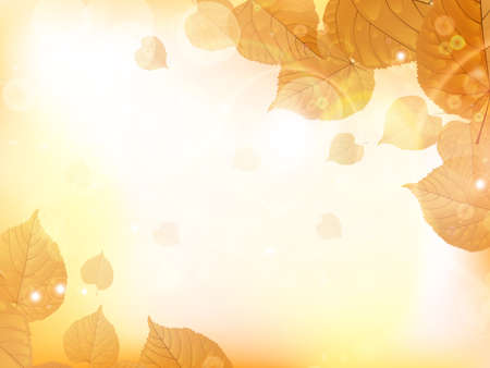 Autumn design background with leaves falling from the tree. EPS10 Imagens - 75349780