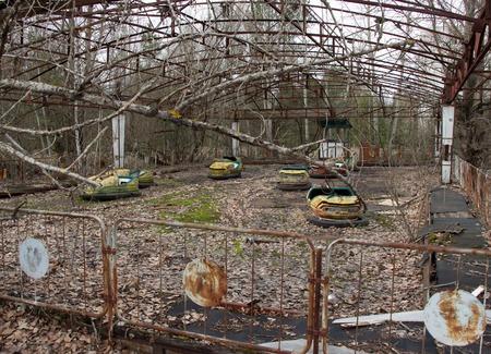 Pripyat Chernobyl Ferris Wheel, Ghost town Pripyat in Chernobyl Фото со стока - 122767940