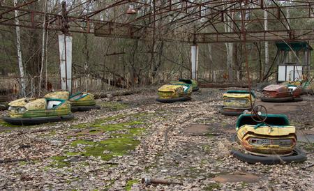 Grande roue de Pripyat Tchernobyl, ville fantôme Pripyat à Tchernobyl
