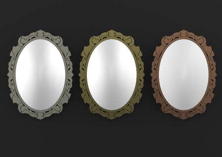 mirror frame: Metal mirror frame
