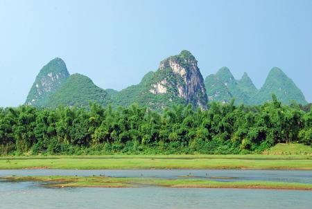 Scenery of Lijiang River Stock Photo