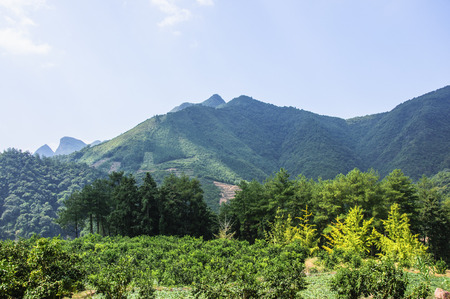 The countryside and mountains scenery Stock Photo
