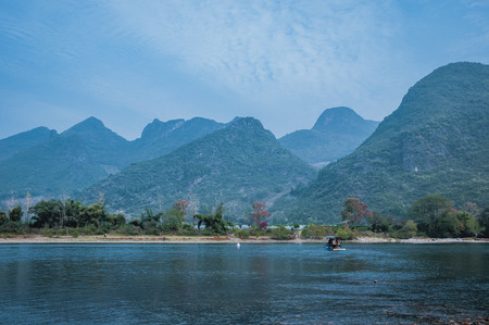 Mountains and river scenery