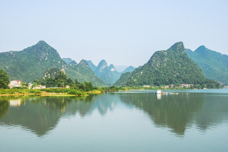 The river and mountains scenery