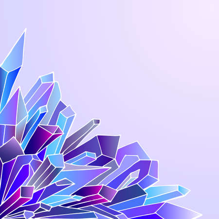 greeting card background: Crystals background for greeting card. Cold colours.