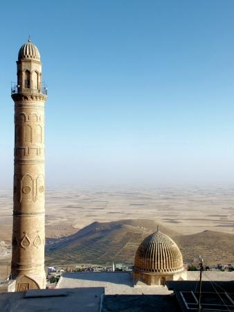 camii: Ulu Camii minaret, Mardin, Turkey Stock Photo