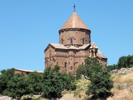 Akdamar Island in Lake Van is home to a tenth century Armenian Cathedral church Stock Photo - 17669400