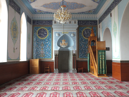 frescoed: The Botanikuri Mosque, built in 1895, is the only mosque in Tbilisi that survived Lavrenty Beria�s antireligious purges of the 1930s  Unusually, Shiite and Sunni Muslims pray together here  The interior is prettily frescoed and visitors are welcome