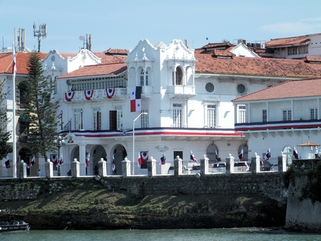 customs official: The Palacio de las Garzas is the official residence of the Panamanian President. It was originally built in the 17th century by an official of the Spanish crown and used as a customs house for a while. Stock Photo