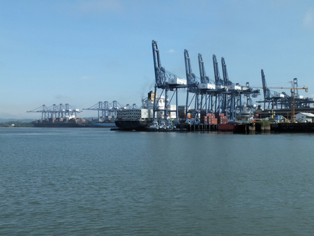 balboa: Balboa is the Pacific-side container port of the Panama Canal. It has a multimodal (ship-to-train) terminal, called Pacific Terminal, with a railway connection to Col?n. This allows transportation of containers by train across the isthmus. In 2012 the con
