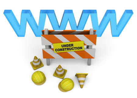 website under construction: Website Under Construction Concept 3D