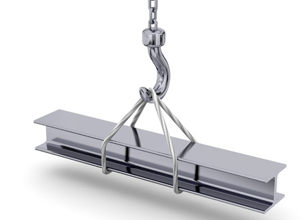 Cranes listing a steel bar