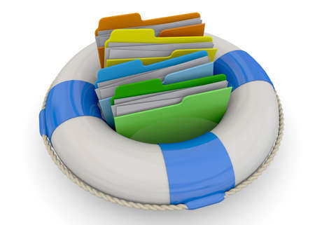 safely: Safely Folder Concept on white background Stock Photo