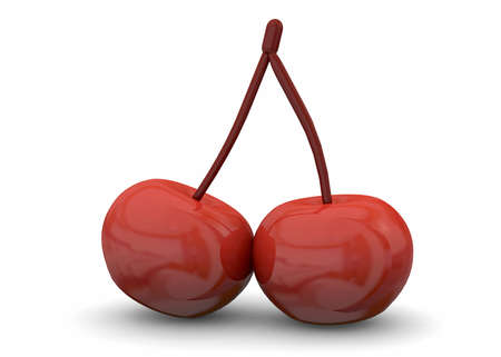 ed: 3d Cherry on white background