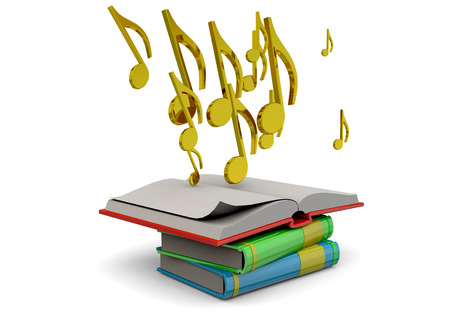 songwriter: The Book of Music Concept Stock Photo