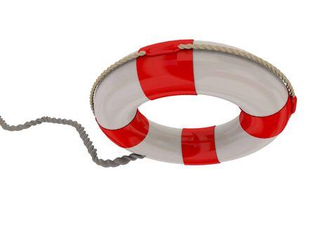 coast guard: Life Buoy on white Background Stock Photo