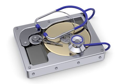recue: Hard Disk and Recue Concept Stock Photo