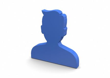 business administrator: Contacto icono en el fondo blanco