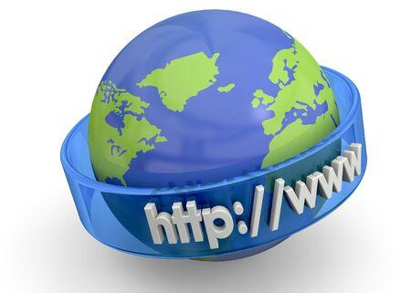 World Internet Concept on white background photo