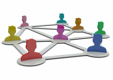 Communicatie adn mensen op het netwerk Stockfoto - 39003475