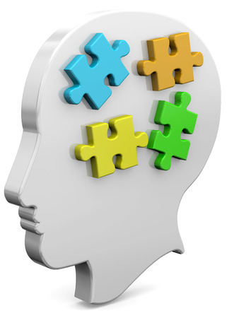 Piece of Puzzle on the mind Stock Photo