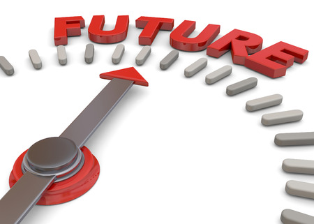 Future direction concept 3d render Imagens