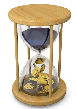 labor market: Time is Money Concept on white background Stock Photo