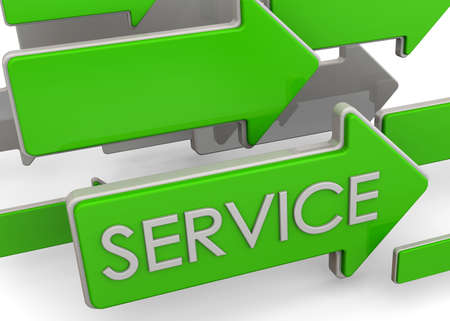 where: Arrows indicate where is the service