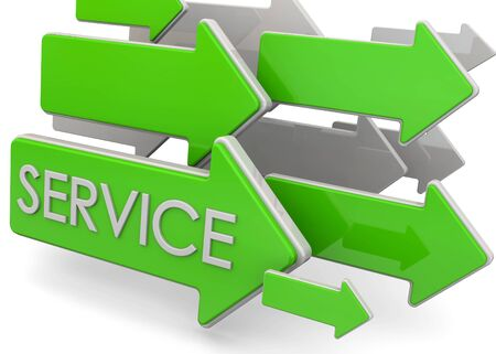 indicate: Arrows indicate where is the service