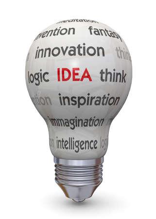 concep: Light Bulb and Idea Concep Stock Photo