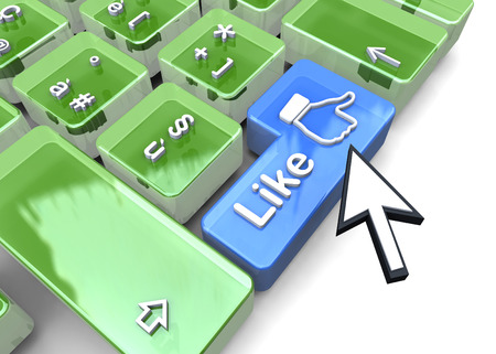 like button: Like button on the keyboard