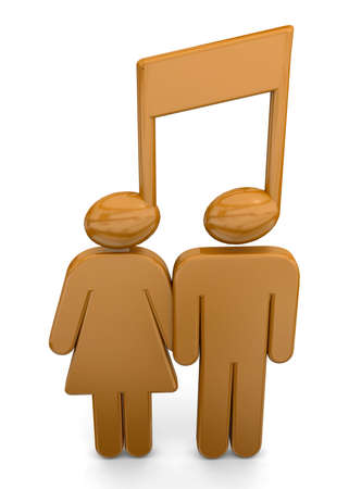 ballad: People with music note in the head