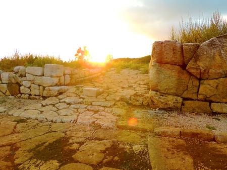 roman empire: Ruins of ancient Village of the Roman Empire Stock Photo