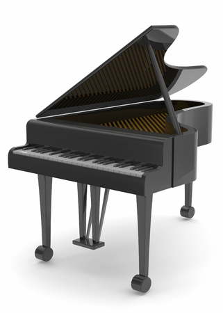 tonality: 3d Piano on white background