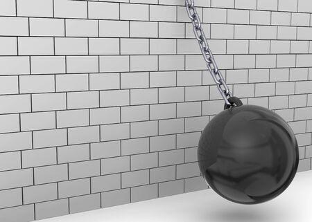 break down: Wrecking Ball break down the wall
