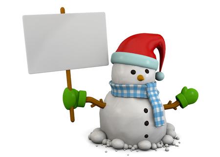 snowman 3d: Snowman 3d on white background