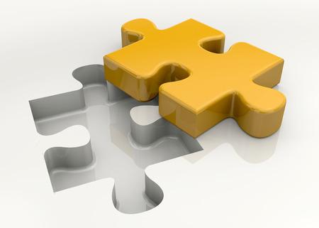 la union hace la fuerza: Pedazo del rompecabezas en el fondo blanco