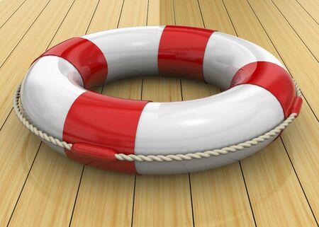 life buoy: Life Buoy on Wood Floor