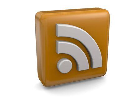 Rss symbol 3d Imagens