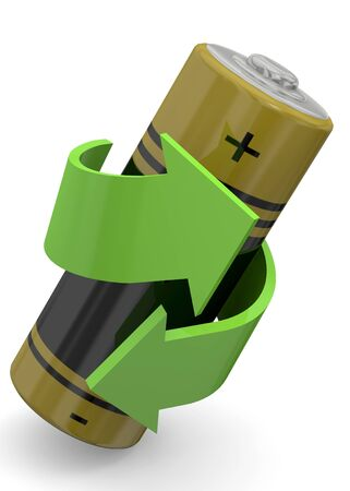 recycle batteries - 3d