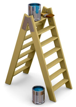 Ladder and color - 3d