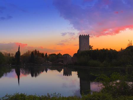 Sermoneta Castle and the lake