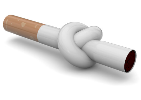 node: Cigarette with a node to stop smoking