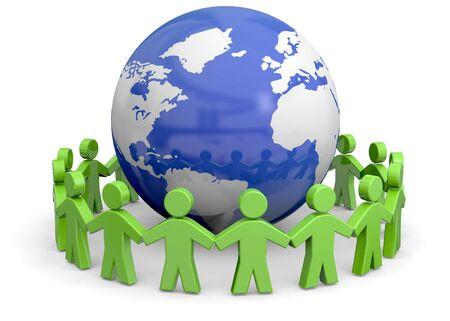 Friends around the world - 3d Imagens