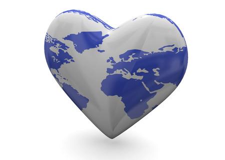 Planet in Heart 3D Imagens - 93544447