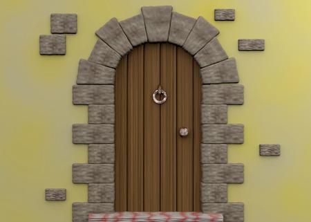 Oude deur - 3D